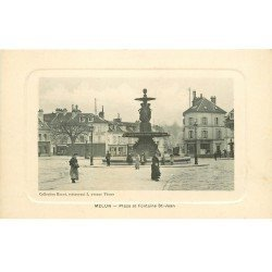 carte postale ancienne 77 MELUN. Fontaine Place Saint-Jean