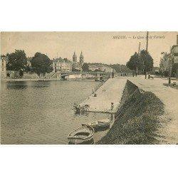 carte postale ancienne 77 MELUN. Lavandières Quai de la Verrerie