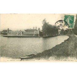 carte postale ancienne 77 MELUN. Ile Maison Centrale 1907 Prison Pénitencier