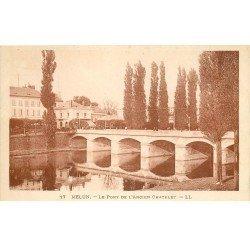 carte postale ancienne 77 MELUN. Le Pont Ancien Châtelet
