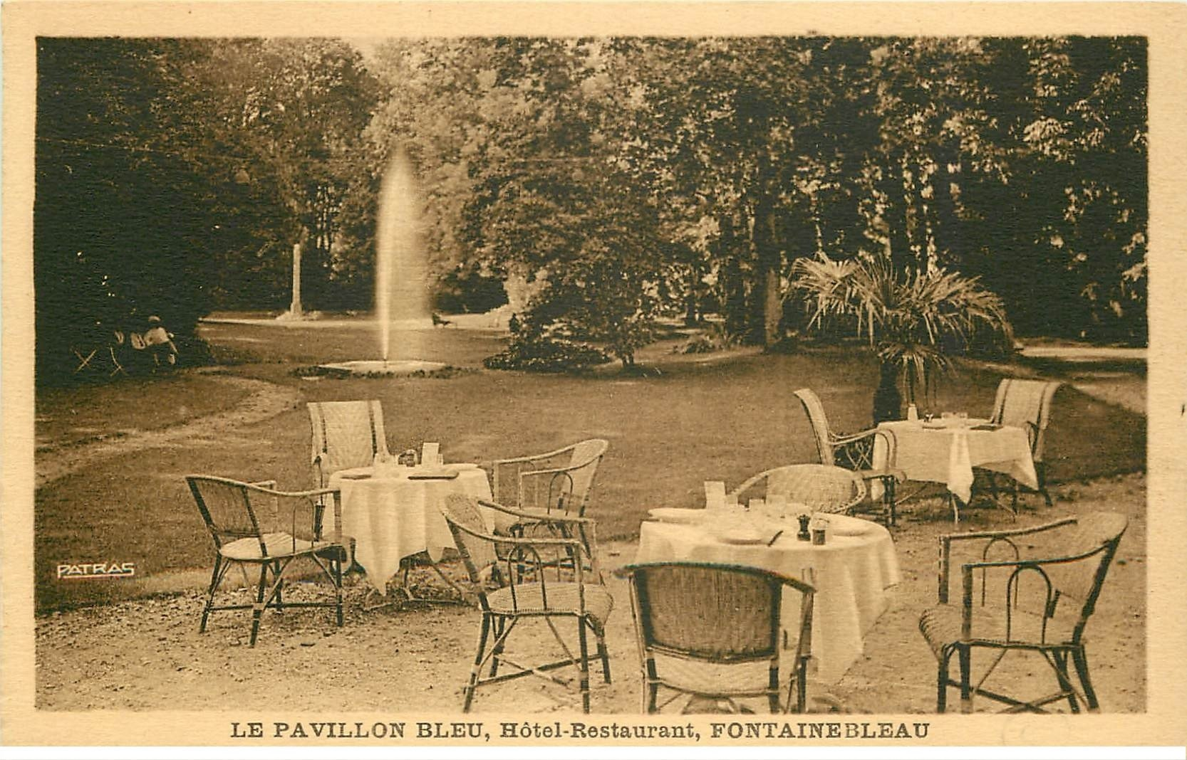 77 fontainebleau parc h tel le pavillon bleu restaurant. Black Bedroom Furniture Sets. Home Design Ideas