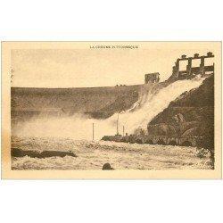 carte postale ancienne 23 EGUZON. Ouverture des Vannes au Barrage