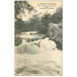 carte postale ancienne 23 THAURION les Bords entre Vallière et Royère. Rivière