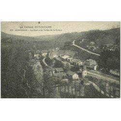 carte postale ancienne 23 AUBUSSON. La Gare Vallée de la Creuse 1915