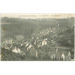 carte postale ancienne 23 AUBUSSON. Route de Clermont