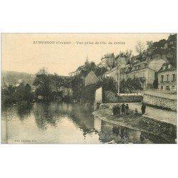 carte postale ancienne 23 AUBUSSON. Vue de l'Ile de Juillet