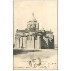 carte postale ancienne 23 BENEVENT-L'ABBAYE. Abside de l'Eglise 1903