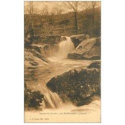 carte postale ancienne 23 BOURGANEUF. Cascade des Jarreau