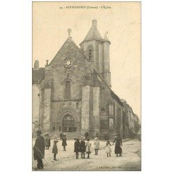 carte postale ancienne 23 BOURGANEUF. L'Eglise 1914