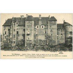 carte postale ancienne 23 BOUSSAC. Ancien Château