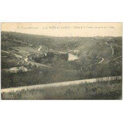 carte postale ancienne 23 BUSSEAU-D'AHUN. Vallée de la Creuse 1921