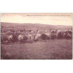 carte postale ancienne 23 CAMP DE LA COURTINE. Artillerie et Chars Groupe du Breuil