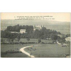 carte postale ancienne 01 LOMPNES. Grand Hôtel du Château. Ordre médaillé du T.C.F