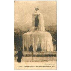 carte postale ancienne 23 GUERET. Fontaine Bonnyaud 1935