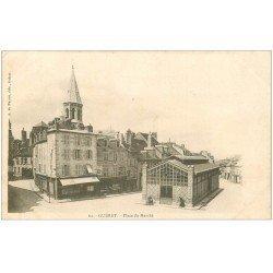 carte postale ancienne 23 GUERET. Place du Marché 1903. Edition Nussac