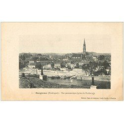 carte postale ancienne 24 BERGERAC. Vue panoramique. Tampon Militaire 1914