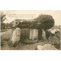 carte postale ancienne 24 BRANTOME. Le Dolmen. La Pierre levée 1931