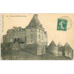 carte postale ancienne 24 CHATEAU DE BIRON 1911 côté Nord