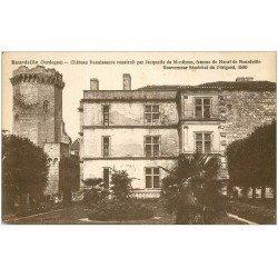 carte postale ancienne 24 CHATEAU DE BOURDEILLES. Par Montbron
