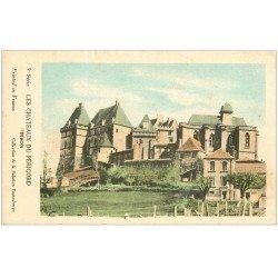 carte postale ancienne 24 Châteaux du Périgord. BIRON. Collection de la Solution Pautauberge