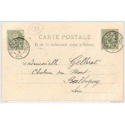 carte postale ancienne 01 MENETRIER BRESSAN. Musicien 1901