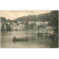 carte postale ancienne 25 BASSINS DU DOUBS. Rameurs sur le Bassin de l'Echo 1907