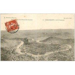 carte postale ancienne 25 BESANCON. A vol d'Oiseau 1909