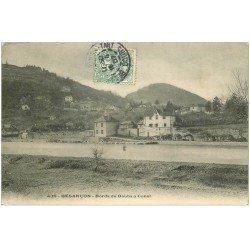 carte postale ancienne 25 BESANCON. Bords du Doubs à Canot 1907