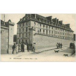 carte postale ancienne 25 BESANCON. Caserne Ruty 1910 Militaires