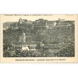 carte postale ancienne 25 BESANCON. Cathédrale. Publicitaire Fabriques Pétolat et Anguenot
