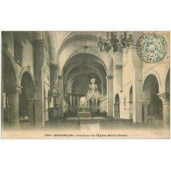 carte postale ancienne 25 BESANCON. Eglise Notre-Dame 1907