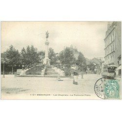 carte postale ancienne 25 BESANCON. Fontaine Flore 1906 Les Chaprais