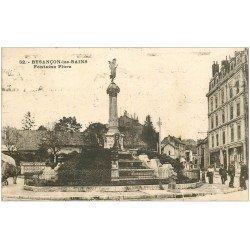 carte postale ancienne 25 BESANCON. Fontaine Flore 1931