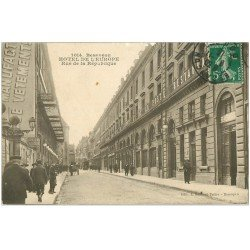 carte postale ancienne 25 BESANCON. Hôtel de l'Europe et de Parisrue de la République 1913. Edition Gaiflard Prêtre