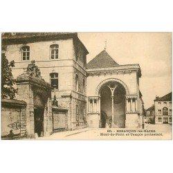carte postale ancienne 25 BESANCON. Mont de Piété et Temple Protestant 1931