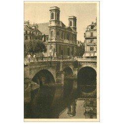 carte postale ancienne 25 BESANCON. Pont Battant et Eglise de la Madeleine. Ed Yvon