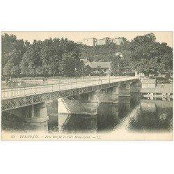 carte postale ancienne 25 BESANCON. Pont Brégile et Fort Beauregard