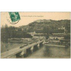carte postale ancienne 25 BESANCON. Pont Brégile et Fort Beauregard 1909