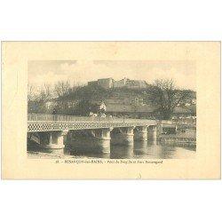 carte postale ancienne 25 BESANCON. Pont de Bregille et Fort Beauregard 1916. Légers défauts...