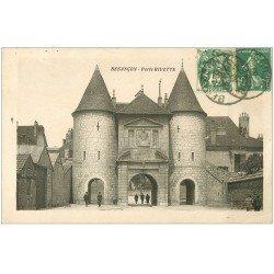 carte postale ancienne 25 BESANCON. Porte Rivotte animée 1930