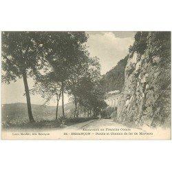 carte postale ancienne 25 BESANCON. route et Chemin de Fer de Morteau 1931
