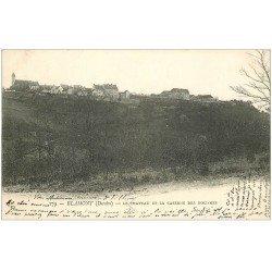 carte postale ancienne 25 BLAMONT. Caserne des Douanes et Château 1904