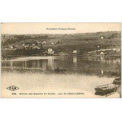 carte postale ancienne 25 CHAILLEXON. Le Lac Entrée des Bassins du Doub