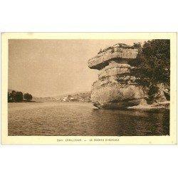 carte postale ancienne 25 CHAILLEXON. Le Rocher d'Hercule