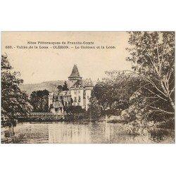 carte postale ancienne 25 CLERON. Château et la Loue 1932