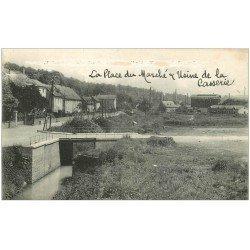 carte postale ancienne 25 FESCHES-LE-CHATEL. Usine de la Casserie et Place du Marché