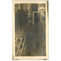 carte postale ancienne 25 PONTARLIER. Carte Photo rare d'un Facteur en 1916