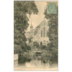 carte postale ancienne 28 ANCIENNE ABBAYE DU BREUIL. L'Eglise. Timbre Taxe 1906