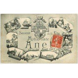 carte postale ancienne 28 ANET. Fête Mutualiste de 1907. Timbrée 1915
