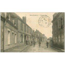 carte postale ancienne 28 ARROU. Grande Rue 1930 Vins et Liqueurs Lansard